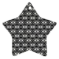 Retro Circles Pattern Star Ornament (two Sides)