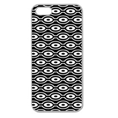 Retro Circles Pattern Apple Seamless Iphone 5 Case (clear)