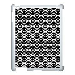 Retro Circles Pattern Apple Ipad 3/4 Case (white) by goodart