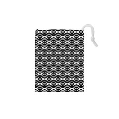 Retro Circles Pattern Drawstring Pouches (xs)