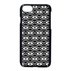 Retro Circles Pattern Apple Iphone 7 Seamless Case (black)