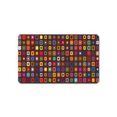 Retro Pattern Magnet (name Card)