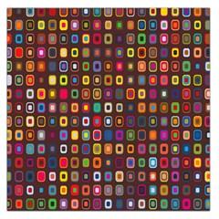 Retro Pattern Large Satin Scarf (square)