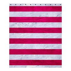 Stripes2white Marble & Pink Leather Shower Curtain 60  X 72  (medium)
