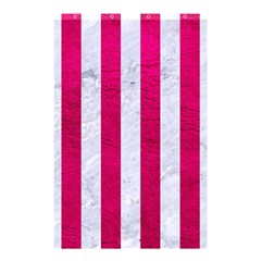Stripes1 White Marble & Pink Leather Shower Curtain 48  X 72  (small)