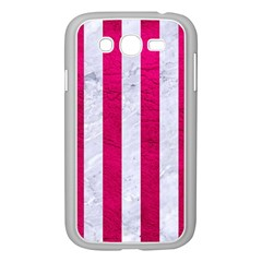 Stripes1 White Marble & Pink Leather Samsung Galaxy Grand Duos I9082 Case (white)