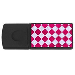 Square2 White Marble & Pink Leather Rectangular Usb Flash Drive
