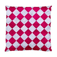 Square2 White Marble & Pink Leather Standard Cushion Case (two Sides)