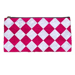 Square2 White Marble & Pink Leather Pencil Cases by trendistuff