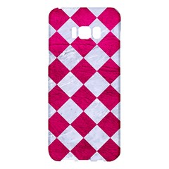 Square2 White Marble & Pink Leather Samsung Galaxy S8 Plus Hardshell Case