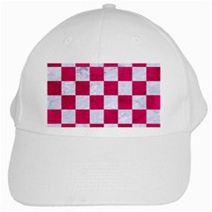 Square1 White Marble & Pink Leather White Cap
