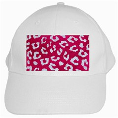 Skin5 White Marble & Pink Leather (r) White Cap