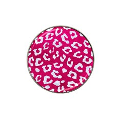 Skin5 White Marble & Pink Leather (r) Hat Clip Ball Marker (10 Pack) by trendistuff