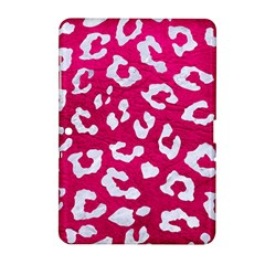Skin5 White Marble & Pink Leather (r) Samsung Galaxy Tab 2 (10 1 ) P5100 Hardshell Case