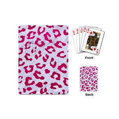 Skin5 White Marble & Pink Leather Playing Cards (mini)