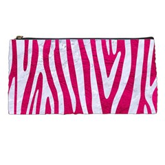 Skin4 White Marble & Pink Leather (r) Pencil Cases by trendistuff