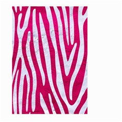 Skin4 White Marble & Pink Leather (r) Large Garden Flag (two Sides) by trendistuff
