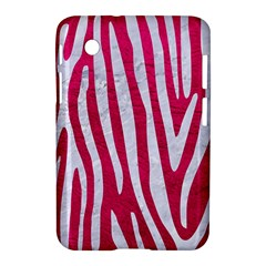 Skin4 White Marble & Pink Leather (r) Samsung Galaxy Tab 2 (7 ) P3100 Hardshell Case
