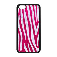 Skin4 White Marble & Pink Leather (r) Apple Iphone 5c Seamless Case (black)