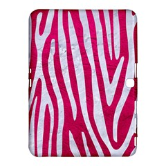 Skin4 White Marble & Pink Leather (r) Samsung Galaxy Tab 4 (10 1 ) Hardshell Case  by trendistuff
