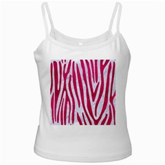 Skin4 White Marble & Pink Leather Ladies Camisoles