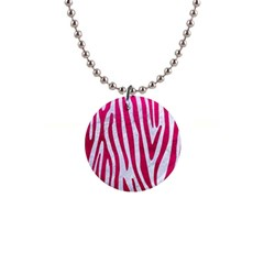 Skin4 White Marble & Pink Leather Button Necklaces