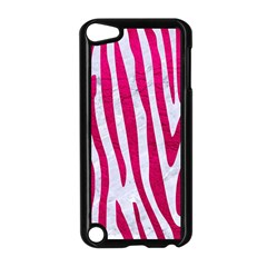Skin4 White Marble & Pink Leather Apple Ipod Touch 5 Case (black)