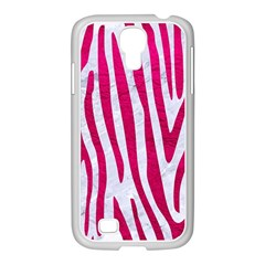 Skin4 White Marble & Pink Leather Samsung Galaxy S4 I9500/ I9505 Case (white)