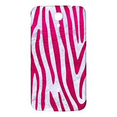 Skin4 White Marble & Pink Leather Samsung Galaxy Mega I9200 Hardshell Back Case