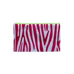Skin4 White Marble & Pink Leather Cosmetic Bag (xs)