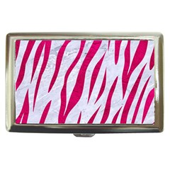 Skin3 White Marble & Pink Leather (r) Cigarette Money Cases by trendistuff