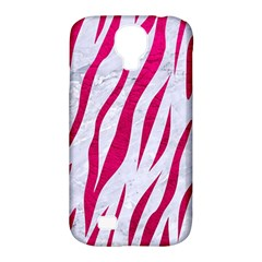 Skin3 White Marble & Pink Leather (r) Samsung Galaxy S4 Classic Hardshell Case (pc+silicone)