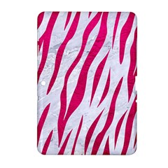 Skin3 White Marble & Pink Leather (r) Samsung Galaxy Tab 2 (10 1 ) P5100 Hardshell Case