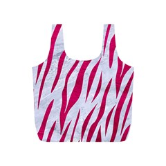 Skin3 White Marble & Pink Leather (r) Full Print Recycle Bags (s)