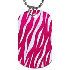 Skin3 White Marble & Pink Leather Dog Tag (one Side)
