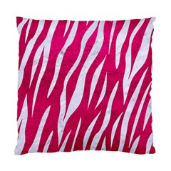 Skin3 White Marble & Pink Leather Standard Cushion Case (two Sides) by trendistuff