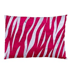 Skin3 White Marble & Pink Leather Pillow Case by trendistuff