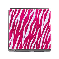 Skin3 White Marble & Pink Leather Memory Card Reader (square)