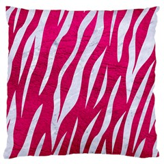 Skin3 White Marble & Pink Leather Large Cushion Case (two Sides) by trendistuff