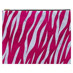 Skin3 White Marble & Pink Leather Cosmetic Bag (xxxl)