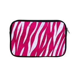 Skin3 White Marble & Pink Leather Apple Macbook Pro 13  Zipper Case