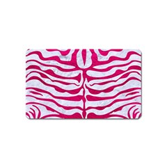 Skin2 White Marble & Pink Leather (r) Magnet (name Card)
