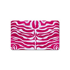 Skin2 White Marble & Pink Leather Magnet (name Card)
