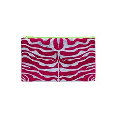 Skin2 White Marble & Pink Leather Cosmetic Bag (xs)