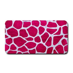 Skin1 White Marble & Pink Leather (r) Medium Bar Mats by trendistuff