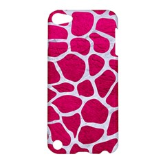 Skin1 White Marble & Pink Leather (r) Apple Ipod Touch 5 Hardshell Case by trendistuff