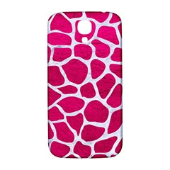Skin1 White Marble & Pink Leather (r) Samsung Galaxy S4 I9500/i9505  Hardshell Back Case
