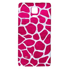 Skin1 White Marble & Pink Leather (r) Galaxy Note 4 Back Case