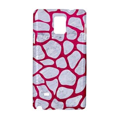 Skin1 White Marble & Pink Leather Samsung Galaxy Note 4 Hardshell Case