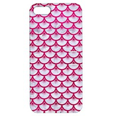 Scales3 White Marble & Pink Leather (r) Apple Iphone 5 Hardshell Case With Stand by trendistuff